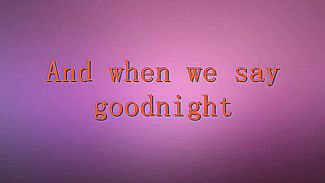 Evanescence - Goodnight karaoke