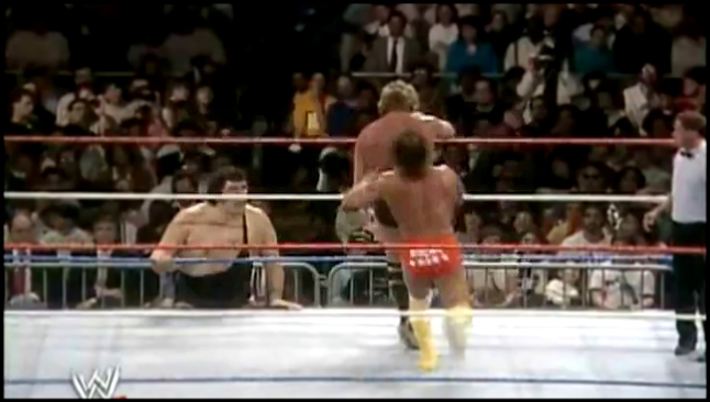 Randy Savage (w. Miss Elizabeth, Hulk Hogan) vs. Ted Dibiase (Andre the Giant) - WWF WrestleMania IV